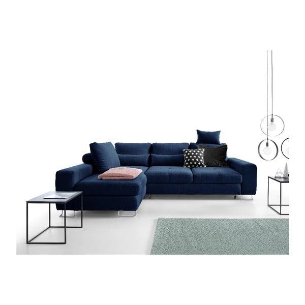 Tmavě modrá rohová rozkládací pohovka Windsor & Co Sofas, levý roh Alpha