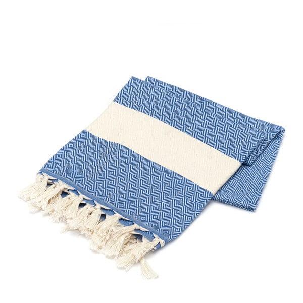 Hammam osuška American Stripes Blue & White, 100x180 cm