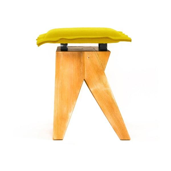 Dřevěná stolička Low, olivová