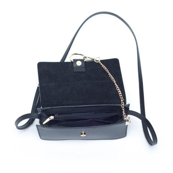 Kožená kabelka Mangotti 3038, černá