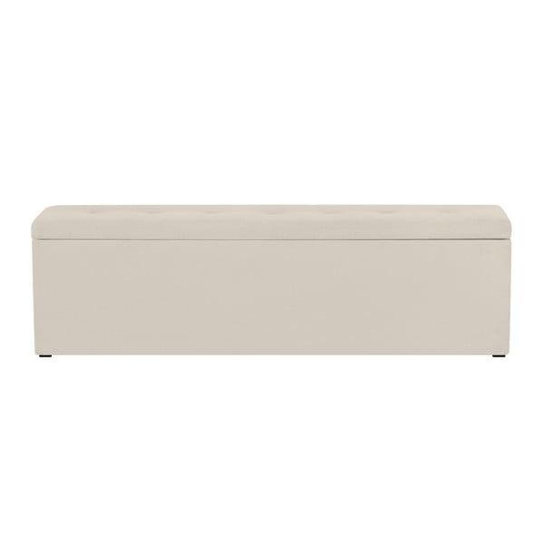Krémový otoman s úložným prostorem Windsor & Co Sofas Astro, 160 x 47 cm