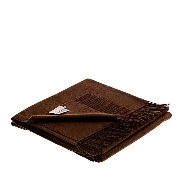 Vlněný pléd Lovely 130x180 cm, hnědý