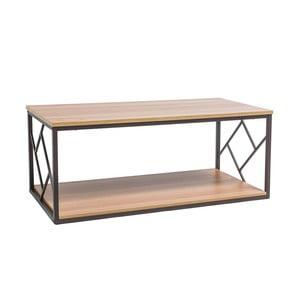 Konferenční stolek s konstrukcí z černě lakované oceli Signal Tablo, délka111cm