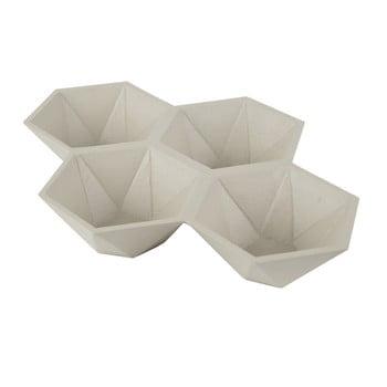 Tavă cu 4 compartimente Zuiver Hexagon, bej de la Zuiver