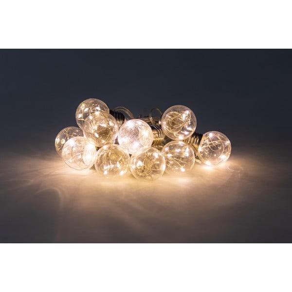 Transparentní světelný řetěz s LED žárovkami Luuka, 10 světýlek