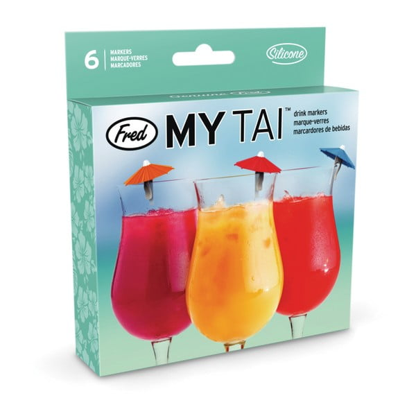 Sada 6 koktejlových deštníků Fred & Friends My Tai