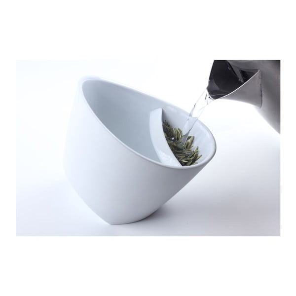 Hrnek na čaj se sítkem, černá, 250 ml
