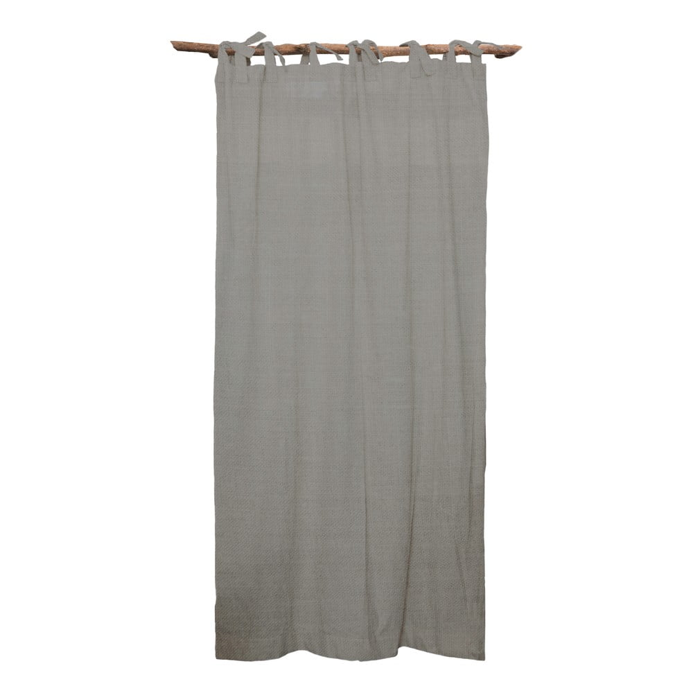 Šedý závěs Linen Cuture Cortina Hogar Cool Grey