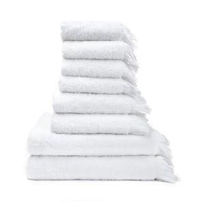 Set 6 prosoape și 2 prosoape de baie din 100% bumbac Bonami, alb