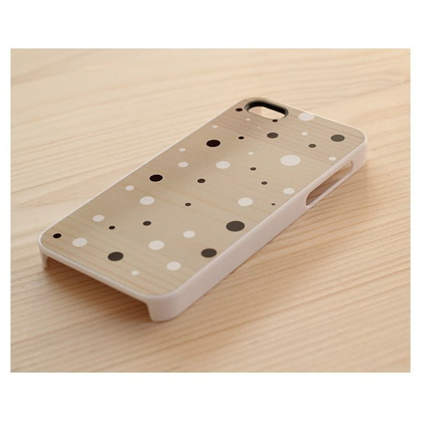 Obal na Samsung Galaxy S3, Black&White Dots on Wood/White