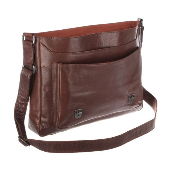 Kožená taška Baker Connker Brown