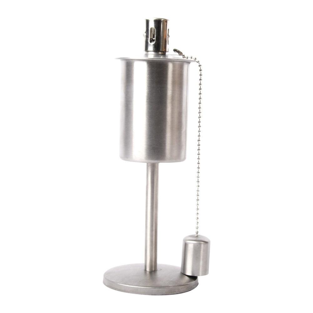 Nerezová olejová lampa na podstavci Esschert Design, výška 29 cm