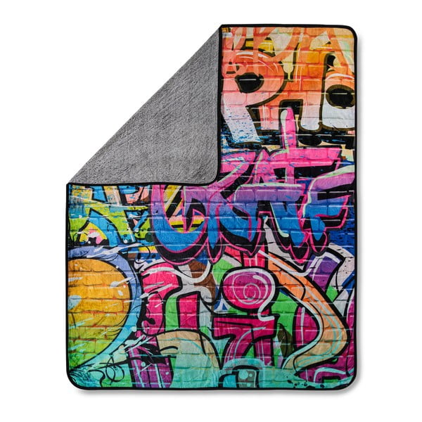 Pléd HIP Graffity Multi, 130 x 160 cm
