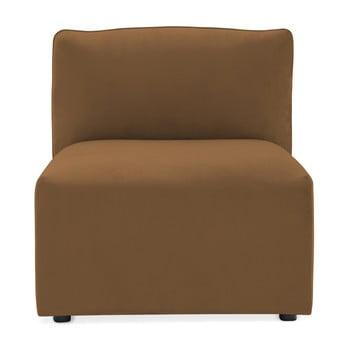 Modul de mijloc pentru canapea Vivonita Velvet Cube maro