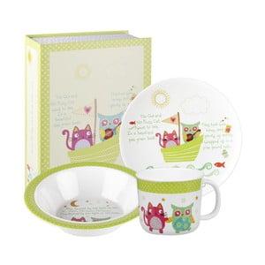Sada dětského nádobí Owl & Cat