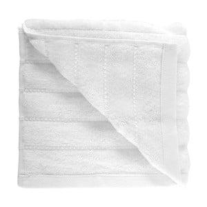 Bílý ručník z česané bavlny Pierre, 50x90cm
