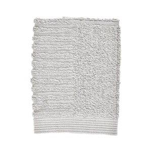 Světle šedý ručník ze 100% bavlny na obličej Zone Classic Soft Grey, 30x30cm