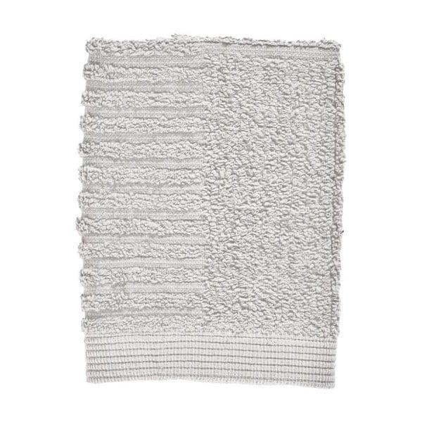 Prosop din bumbac 100% pentru față Zone Classic Soft Grey, 30 x 30 cm, gri deschis