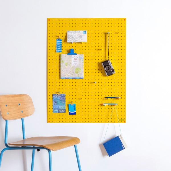 Multifunkční nástěnka Pegboard 61x81 cm, žlutá