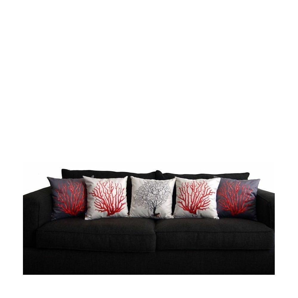 pol t merowings black coral on cream 45 x 45 cm bonami. Black Bedroom Furniture Sets. Home Design Ideas