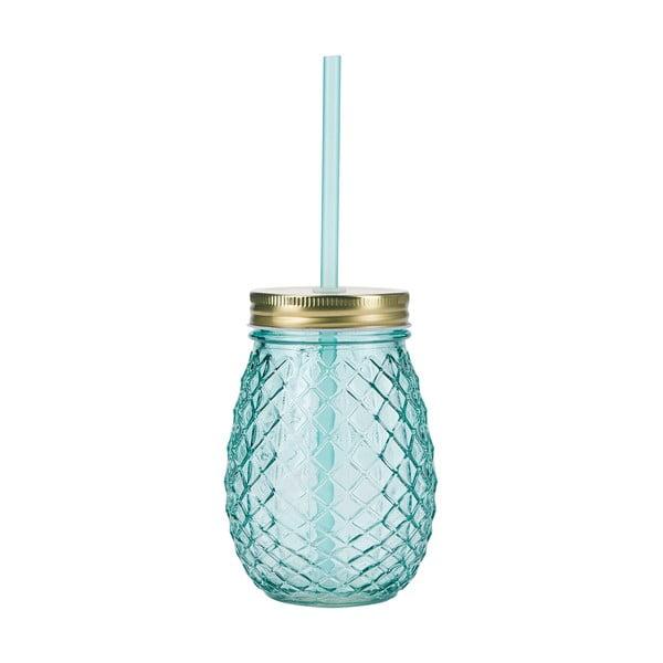 Modrá sklenice s brčkem Miss Étoile Pineapple