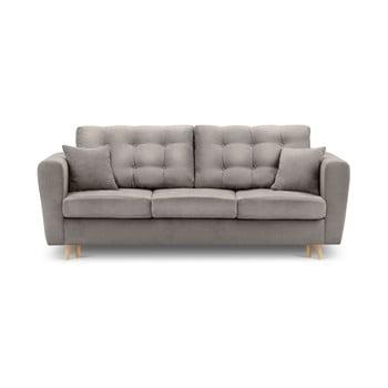 Canapea extensibilă cu spațiu de depozitare Kooko Home Highlife, bej