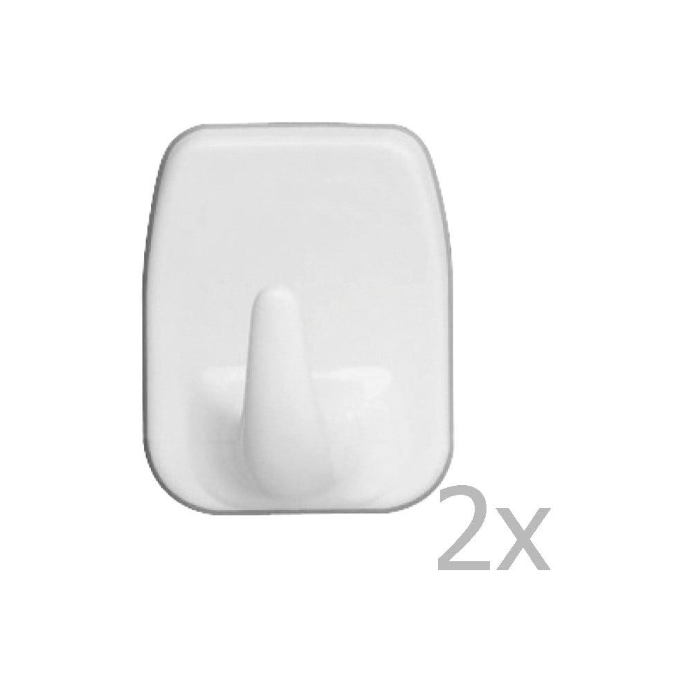 Sada 2 nástěnných háčků Wenko Universal Hooks White