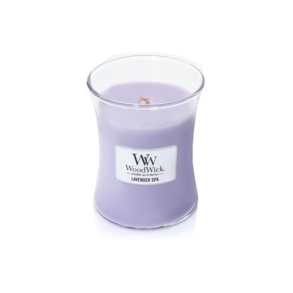 Lumânare parfumată WoodWick Lavandă, durată de ardere 60 ore