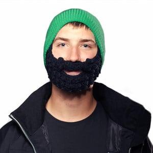 Căciulă cu barbă, Beardo Attached, verde-negru