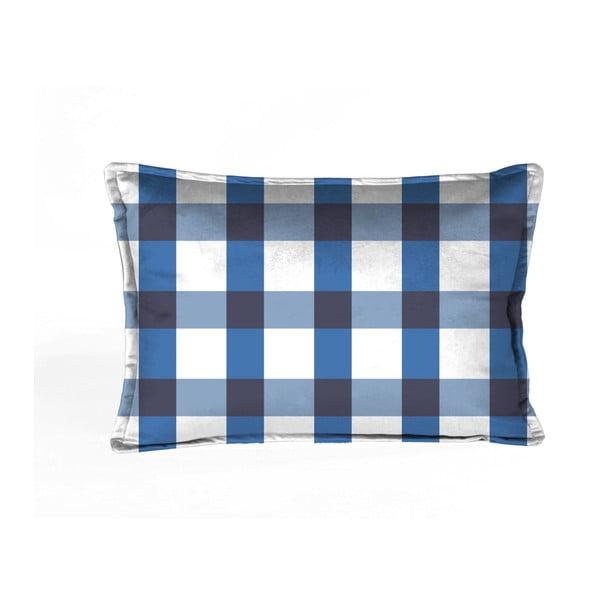 Vichy kék-fehér párnahuzat, 50 x 35 cm - Velvet Atelier