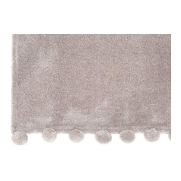 Pléd Pom Pom Grey, 127x152 cm
