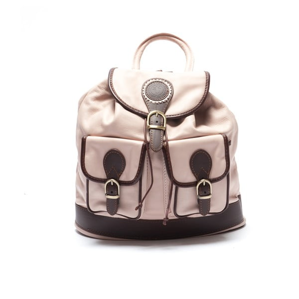 Kožený batoh Mangotti 2038, růžový