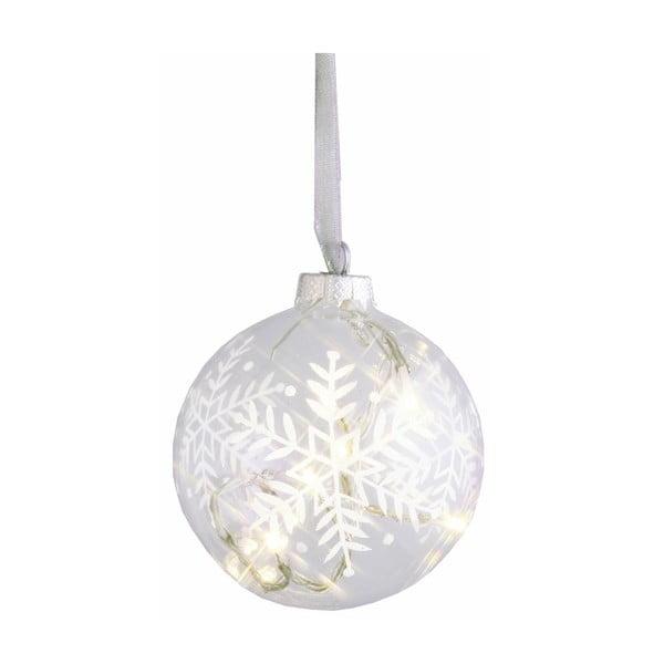 Svítící koule Snow, 10 cm