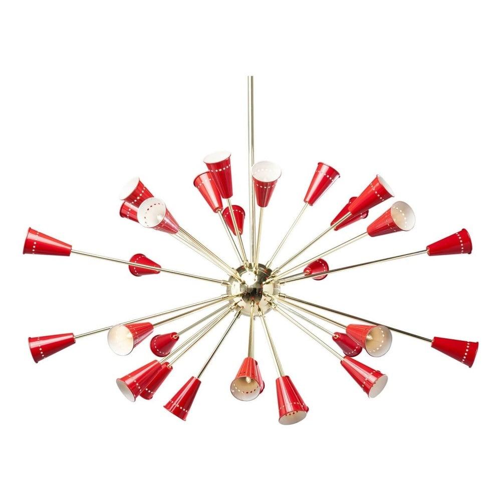 Závěsné svítidlo s detaily v červeno-zlaté barvě Kare Design Atmosphere