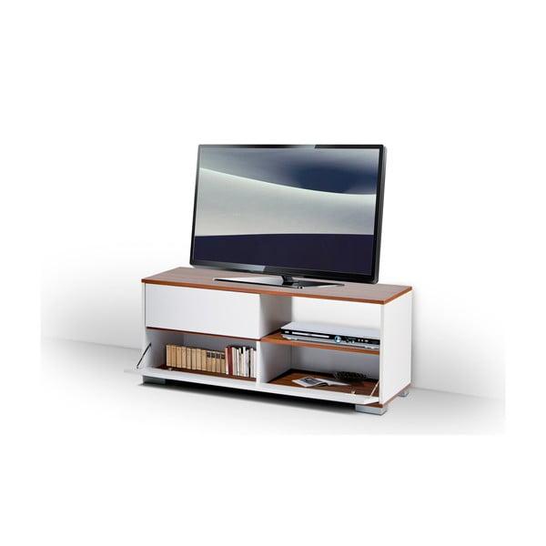 Televizní stolek Mega, bílý/milas