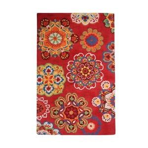 Ručně vyráběný koberec The Rug Republic Medallion Tomato, 240 x 300 cm