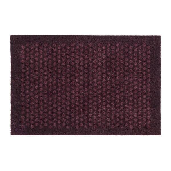 Tmavě vínová rohožka tica copenhagen Dot, 60x90cm