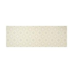 Bílý běhoun White Label Apricot, 100 x 65 cm