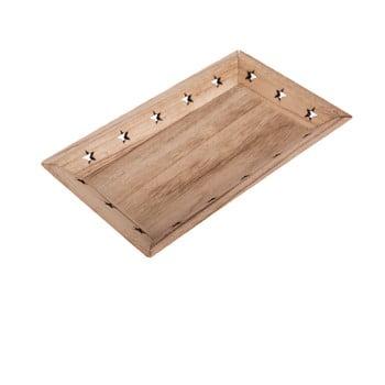 Tavă din lemn cu model de stele Dakls imagine