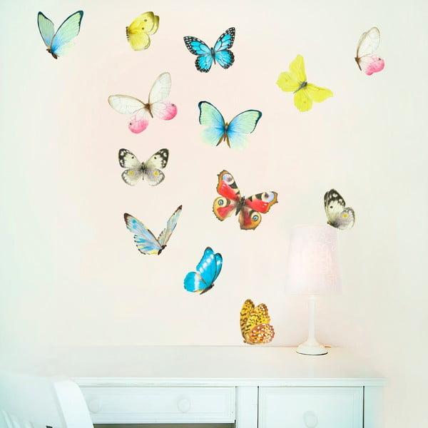 Autocolant detașabil Watercolour Butterflies Mini, 30x21 cm