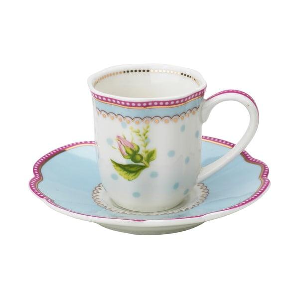 Porcelánový šálek na espresso s podšálkem Lovely od Lisbeth Dahl, 2 ks