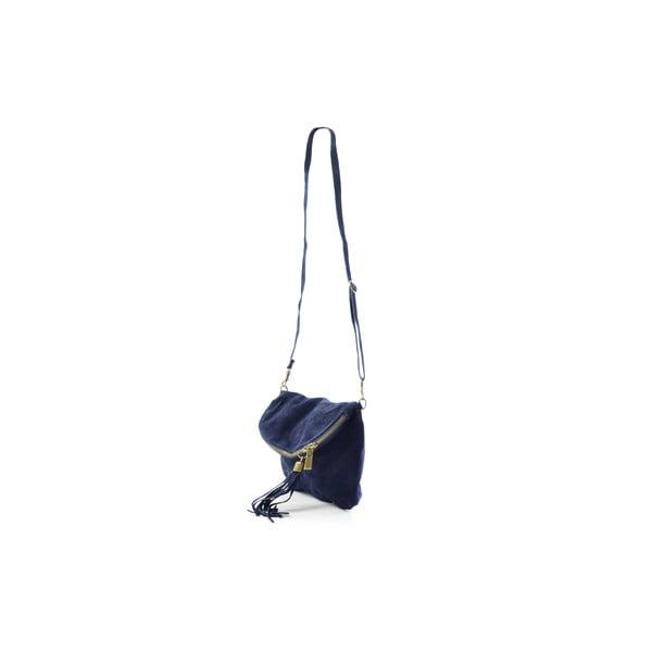 Kožená kabelka Julie, modrá