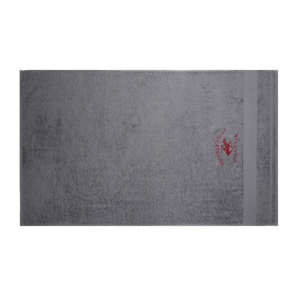 Sada vínového a šedého ručníku Beverly Hills Polo Club Tommy Orj, 50x100cm