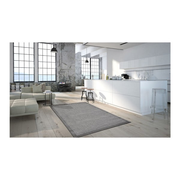 Covor foarte rezistent Floorita Chrome, 135 x 190 cm, gri