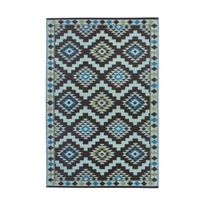 Modro-hnědý oboustranný venkovní koberec Green Decore Regal, 120 x 180 cm