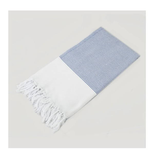 Modro-bílá osuška Hammam Nautica Style, 100  x  180 cm