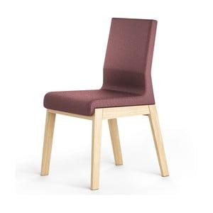 Světle fialová židle z dubového dřeva Absynth Kyla