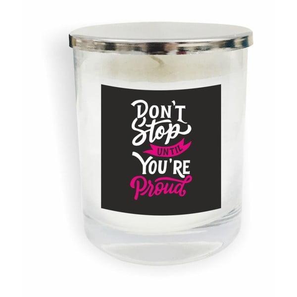 Motto Glass Candle V9 fehér gyertya - North Carolina Scandinavian Home Decors