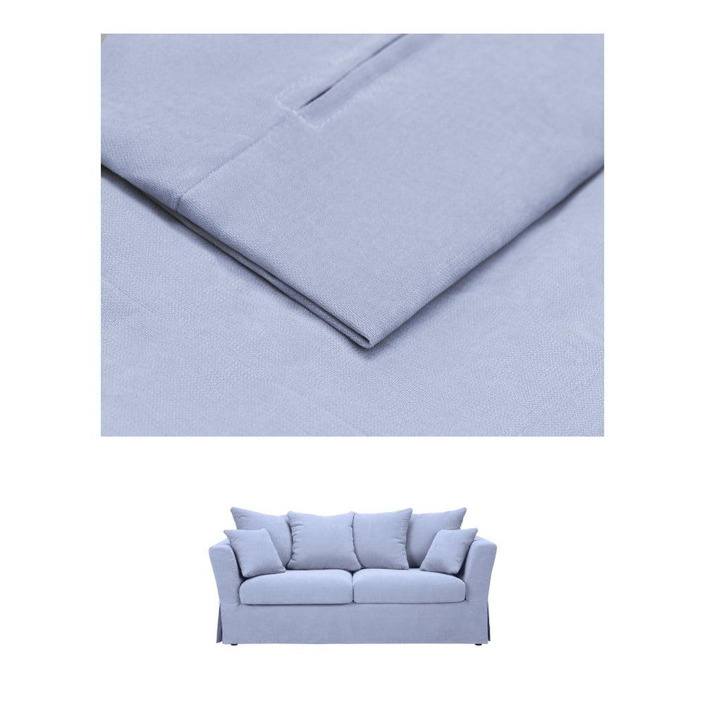Modrý povlak na trojmístnou rozkládací pohovku THE CLASSIC LIVING Helene