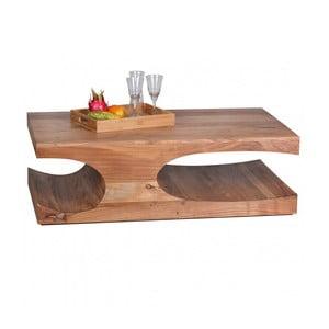 Světle hnědý konferenční stolek z masivního sheeshamového dřeva Skyport BOHA